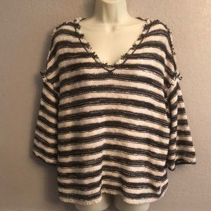 Free People Striped Slouchy Sweater